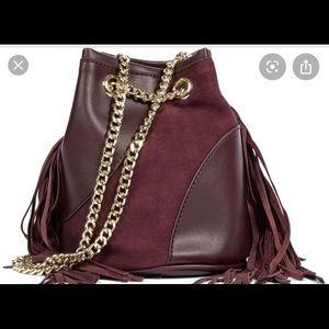 Lyosha Fringe Mini bucket bag